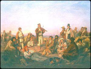 Oboz filsakow nad Wisla